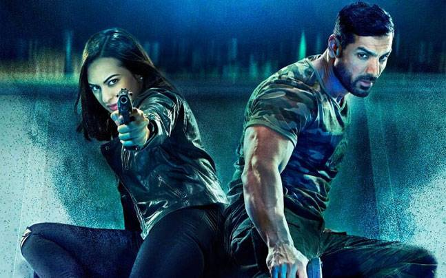 Sonakshi Sinha and John Abraham in a poster of Force 2