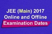 JEE (Main) 2017: Online and offline exam dates released at jeemain.nic.in
