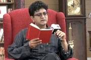 Prasoon Joshi reciting a poem at Sahitya Aajtak event.
