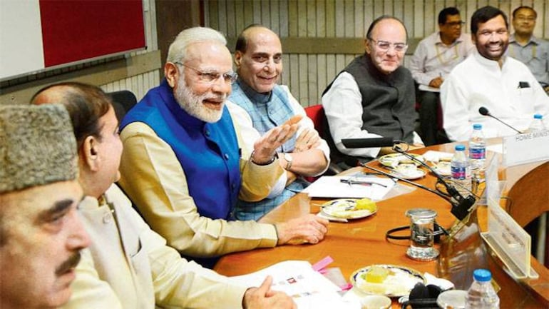 Modi and his council of ministers
