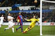Swansea City stun Crystal Palace with last-gasp winner in 5-4 thriller