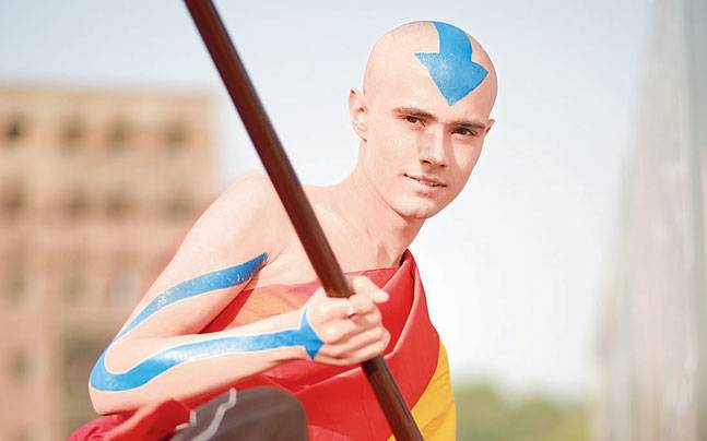 A cosplayer dressed as Aang from 'Avatar: The Last Airbender' at Delhi Comic Con. Photo: Mail Today
