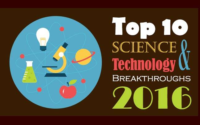 top 10 science and technology breakthroughs of 2016 education
