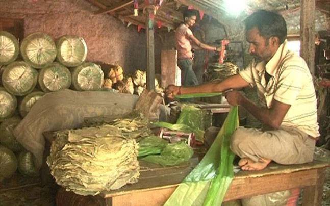 West Midnapore villagers, who eke out a living by making