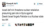 Pakistan defence minister falls for fake news, makes nuclear threat to Israel