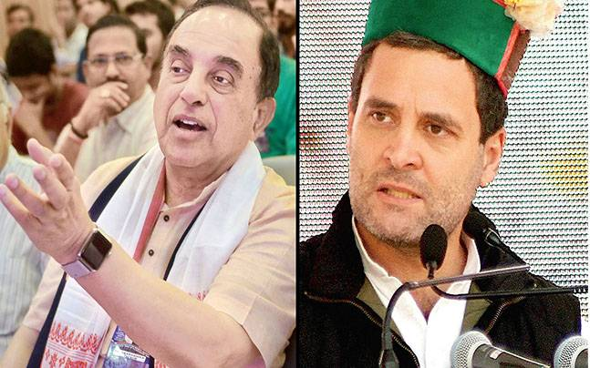 MP Subramaniya Swamy lashed out at Rahul Gandhi