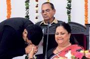 Embattled Raje in election mode