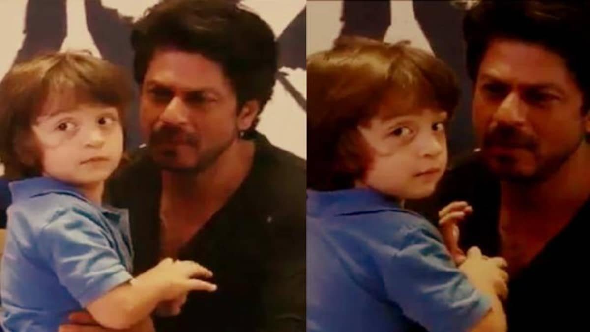 WATCH: AbRam interrupts Shah Rukh's interview, gives us an unforgettable  moment - Movies News