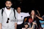 SEE PICS: Aaradhya returns from Dubai with mom Aishwarya and dad Abhishek