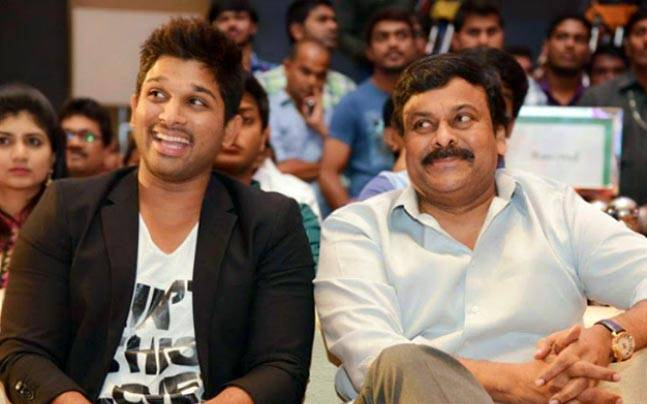Allu Arjun and Chiranjeevi