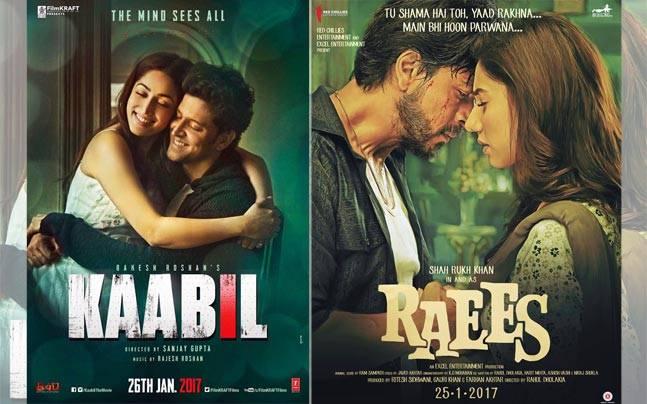 Shah Rukh Khan's Raees races ahead of Hrithik Roshan's Kaabil - Movies News