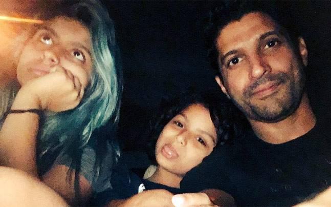 Farhan Akhtar and his daughters