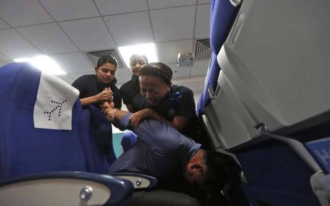 indigo passenger tied down after turning unruly india news