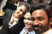 SEE PIC: Kajol, Dhanush, Soundarya Rajinikanth on the sets of VIP 2