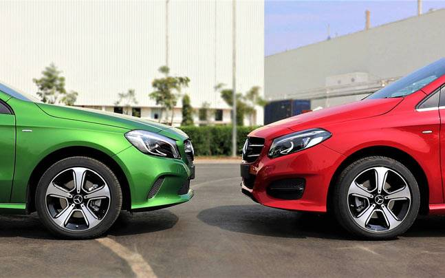 Mercedes Benz A Class B Class Night Editions Launched In India