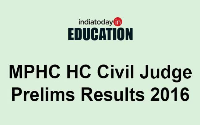 MPHC High Court Civil Judge Prelims results 2016 declared