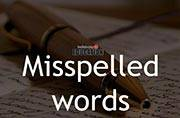 Misspelled words in English