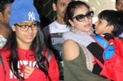 SEE PICS: Akshay-Twinkle with Nitara, Ajay-Kajol with kids return from new year vacations