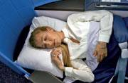 Sleeping quarters aboard the KLM 787 dreamliner's new business class. Photo courtesy: India Today Spice