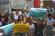 Mumbai: Students from outside SNDT university protest the dress diktat