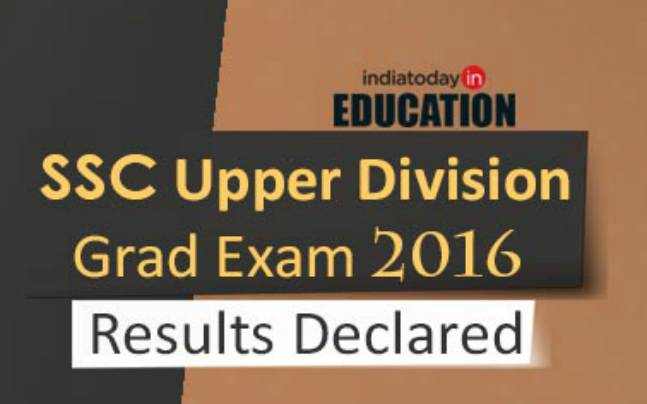 SSC Upper Division Grade Exam 2016: Results declared at ssc