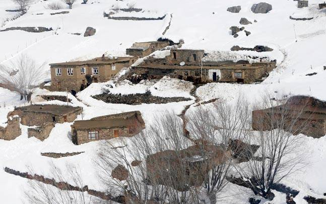 File photo of avalanche hit Afghanistan