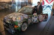 Sachin Tendulkar unveils BMW art car by Sandro Chia at India Art Fair