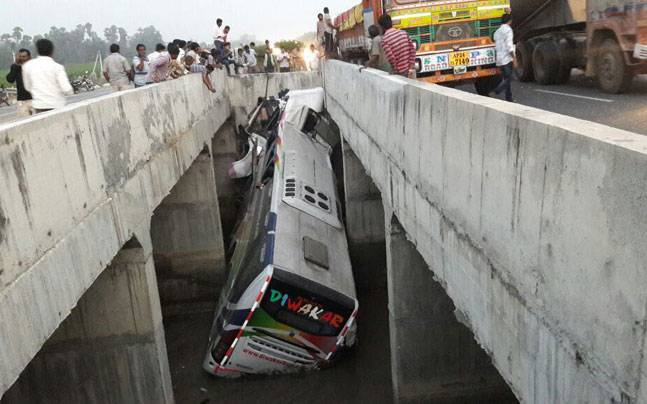 Andhra Pradesh: 10 dead, 30 injured as bus falls into river near