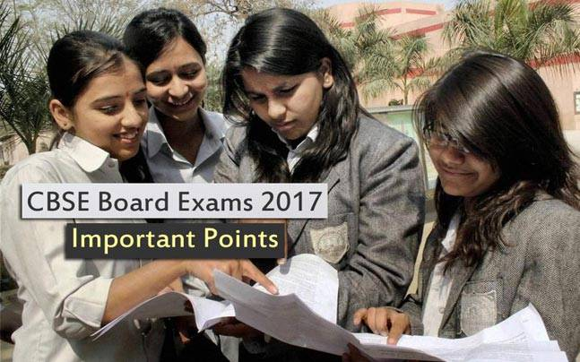 CBSE Board Exams 2017: Important points to remember