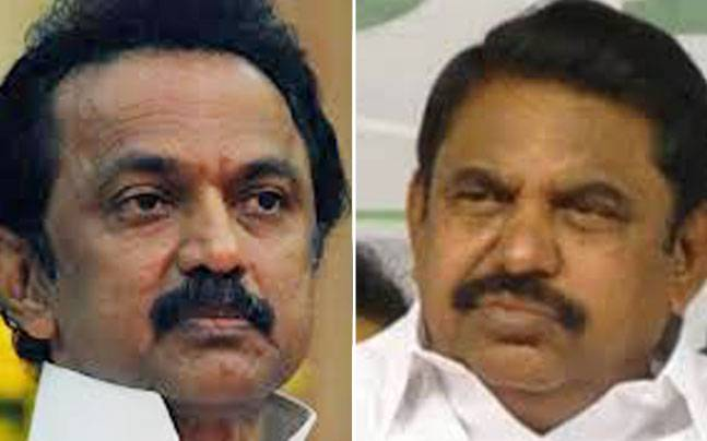 Stalin's DMK will vote against Palaniswami in Tamil Nadu assembly.