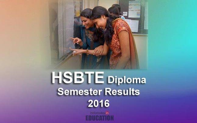 HSBTE Diploma results 2016 declared at www.hsbte.org.in