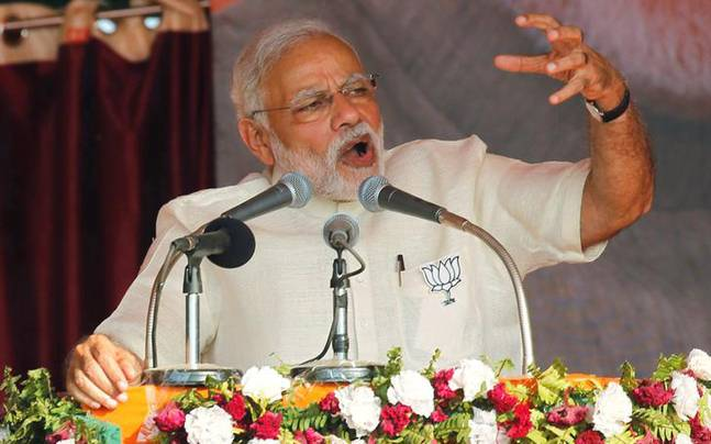 PM Modi at a rally in UP (Reuters photo)