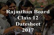 Rajasthan Board Class 12 datesheet 2017 released: Check here