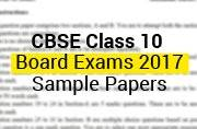 CBSE Class 10 Board Exams 2017: Sample papers