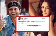 Pyaar possible? Uday Chopra invites Nargis Fakhri to join him in Rome
