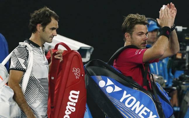 Roger Federerand Stan Wawrinka (Reuters Photo)
