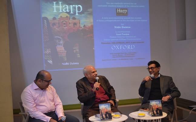 Author Mr. Nidhi Dalmia and Mr. Sunit Tandon, President of the Delhi Music Society