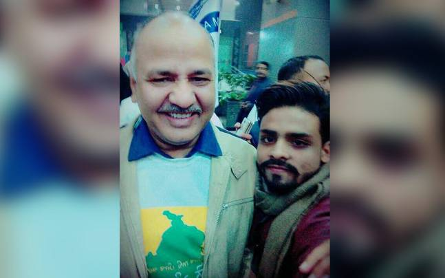 Najeeb with Manish Sisodia