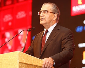 Aroon Purie delivering the Welcome Address at India Today Conclave 2017