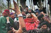 Funeral of a militant, Pehlipora (Photograph by Dar Yasin)