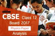 CBSE Class 12 Board 2017 Physics paper analysis by Board examiner: Not scoring for average students