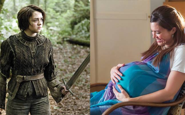 Game of Thrones' Arya Stark and This is Us' Rebecca Pearson. Picture courtesy: YouTube