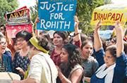 Delhi University: Netas, teachers join anti-ABVP students march
