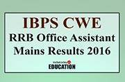 IBPS CWE RRB V Office Assistant Mains Results 2016: Score cards at ibps.in