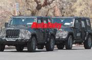 This is 2018 Jeep Wrangler, caught testing with a lot less camo