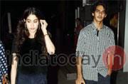 SEE PICS: Jhanvi Kapoor-Ishaan Khattar catch a screening of Badrinath Ki Dulhania