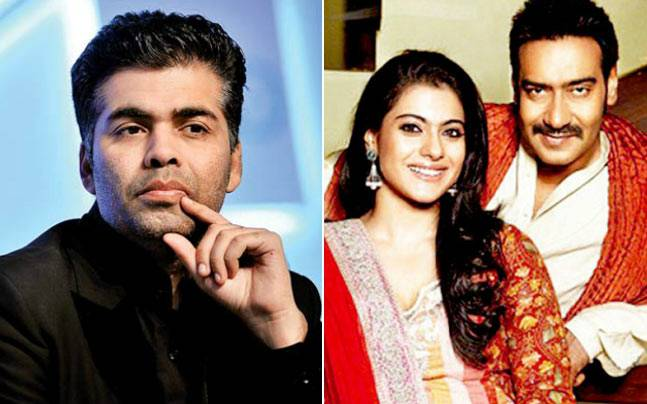 Image result for kajol and ajay devgn and karan johar