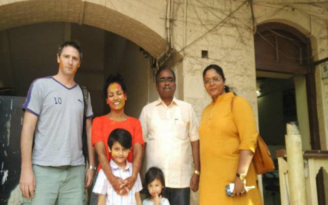Jessica Kamalini Lindher with her family, lawyer and cop who found her as a kid (Photo: Mustafa Shaikh )
