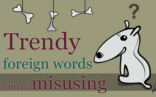 foreign words misused