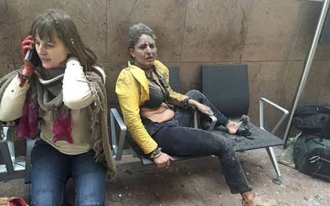 Nidhi Chaphekar's photo went on to become a iconic representatio of the attacks (Reuters photo)